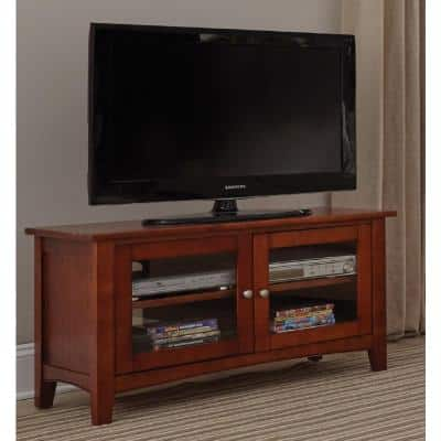 Shaker Cottage 36 in. W Cherry TV Stand Fits TV's up to 36 in.