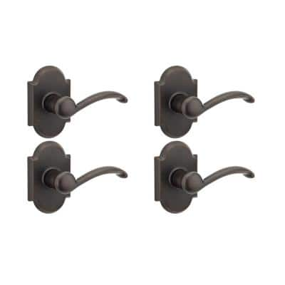 Austin Venetian Bronze Passage Hall/Closet Door Lever (4-Pack)
