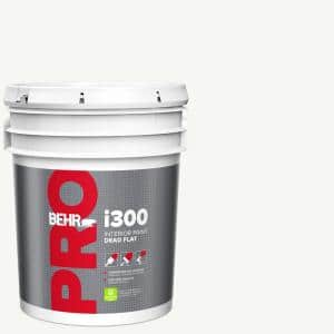Behr Pro 5 Gal I300 White Base Dead Flat Interior Paint Pr31005 The Home Depot