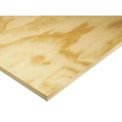 Cabinet Grade Plywood Panel (Common: 23/32 in. x 4 ft. x 8 ft.; Actual: 0.688 in. x 48 in. x 96 in.)