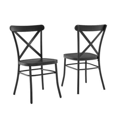Camille Black Metal Dining Chair (Set of 2)