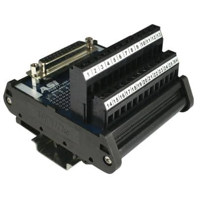 D-Sub Interface Module DIN Rail Mount 25-Pin Female
