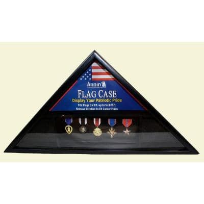 Black Wood Flag Case for 3 ft. x 5 ft. and 5 ft. x 9.5 ft. Flags