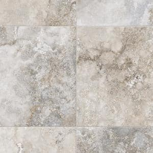 Kara Light Grey Stone Residential Vinyl Sheet Flooring 13.2ft. Wide x Cut to Length