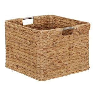 Hyacinth 14.5 in. H x 14.5 in. W x 11 in. D Wicker Basket Closet Drawer Organizer with Metal Frame