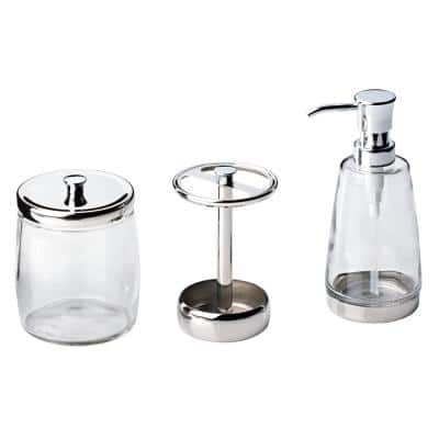 Delta 3-Piece Bathroom Countertop Accessory Kit with Soap Pump, Toothbrush Holder and Canister in Polished Chrome