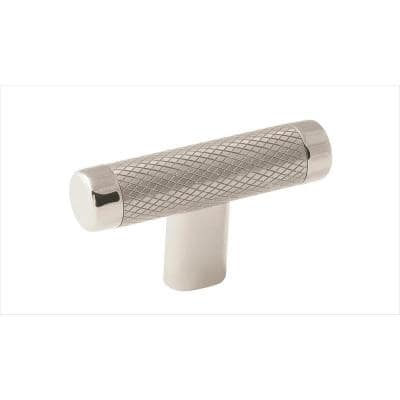 Esquire 2-5/8 in. (67 mm) Polished Nickel/Stainless Steel Cabinet T-Knob