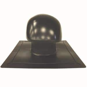 Roof Vent Kit, Bath and Dryer in Black