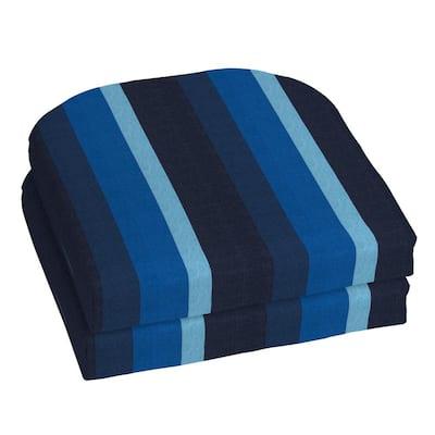 18 x 18 Sunbrella Gateway Indigo Outdoor Chair Cushion (2-Pack)