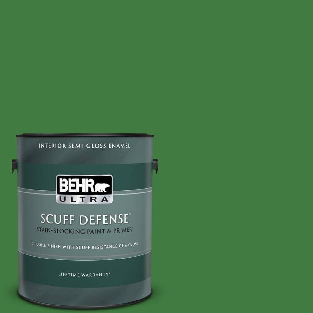 Behr Ultra 1 Gal M390 7 Hills Of Ireland Extra Durable Semi Gloss Enamel Interior Paint Primer 375301 The Home Depot