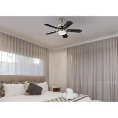 Cassidy 36 in. Integrated LED Indoor Brushed Nickel Ceiling Fan with Light Kit