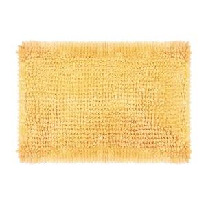 Butter Chenille 17 in. x 24 in. Bath Mat in Yellow