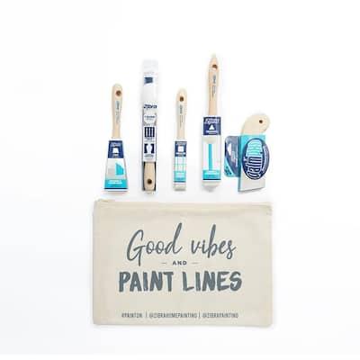 Detail Paintbrush Kit with Bag (5-Piece)