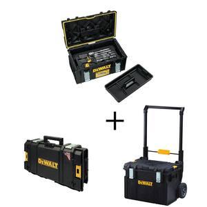 Mechanics Tool Set (226-Piece) with TOUGHSYSTEM 22 in. Medium Tool Box w/ Bonus 22 in. Mobile Tool Box & Small Tool Box