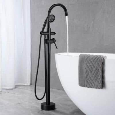 Brass Bathroom Freestanding Tub Faucets with Hand Shower