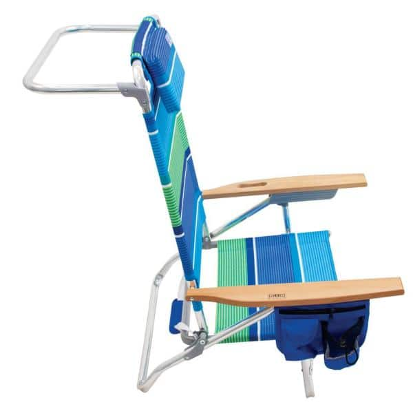 Rio 5 Position Big Kahuna Aluminum Beach Chair With Headrest Pockets And Folding Towel Bar Sc795 1905 1 The Home Depot