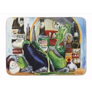 19 in. x 27 in. Eggplant and New Orleans Beers Machine Washable Memory Foam Mat