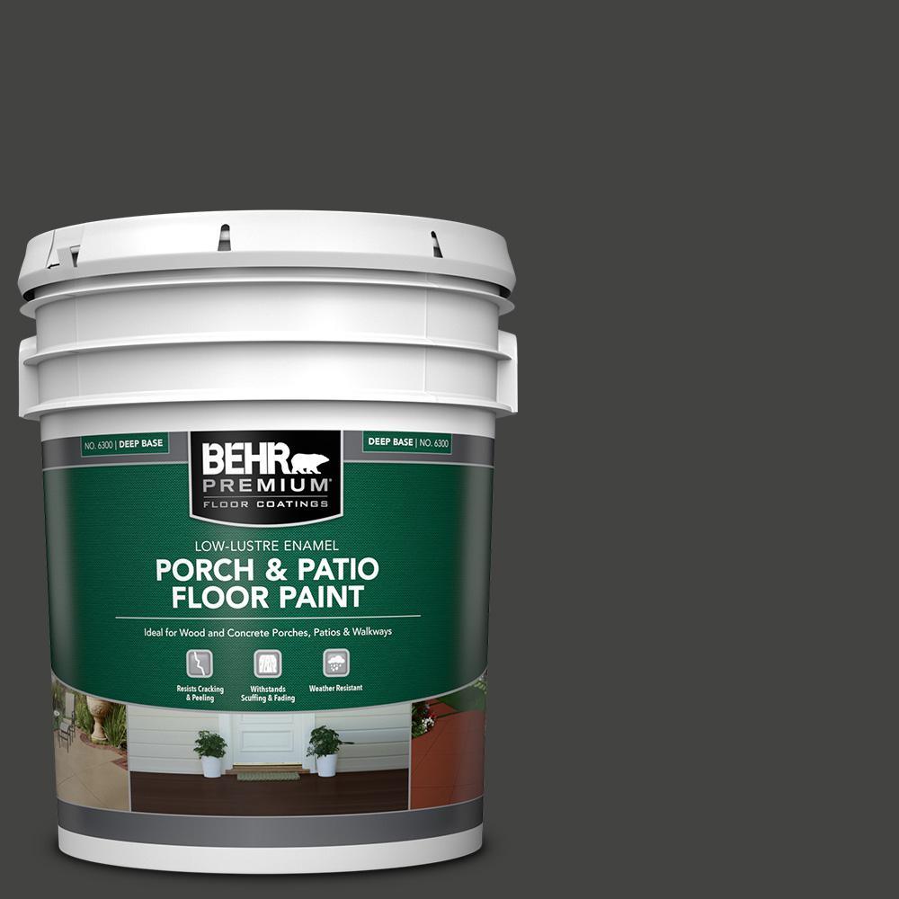 5 gal. #SC-102 Slate Low-Lustre Enamel Interior/Exterior Porch and Patio Floor Paint