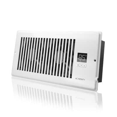 AIRTAP T4 120 CFM 4 in. x 10 in. Quiet Register Booster Fan with Thermostat Control, Heating Cooling AC Vent