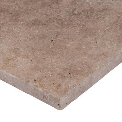 Mediterranean Walnut 16 in. x 16 in.Tan Travertine Paver Tile (60 Pieces/109.5 Sq. Ft./Pallet)