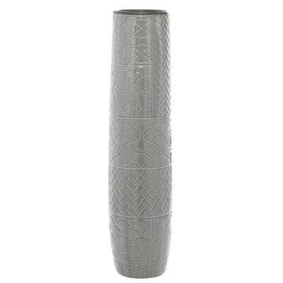 Grey Stoneware Eclectic Decorative Vase
