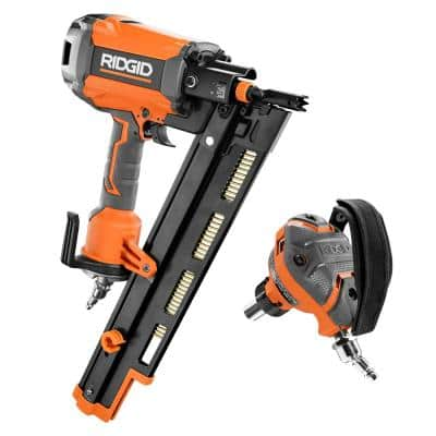21-Degree 3-1/2 in. Round-Head Framing Nailer and 3-1/2 in. Full-Size Palm Nailer