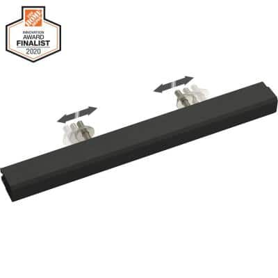 Tapered Edge 2 in. to 8-13/16 in. (51 mm to 224 mm) Matte Black Adjustable Drawer Pull