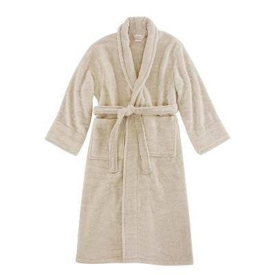 Opulent Cuddle Unisex Champagne 100% Cotton Robe Super Soft