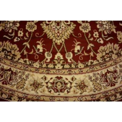Round Red Area Rugs Rugs The Home Depot