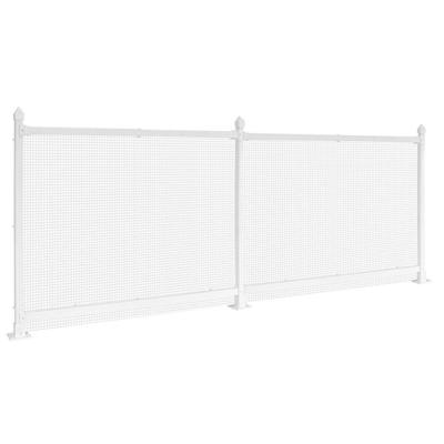 3 ft. x 48 ft. White Plastic Wire Mesh Fence Panel/Enclosure Kit Soft Surface