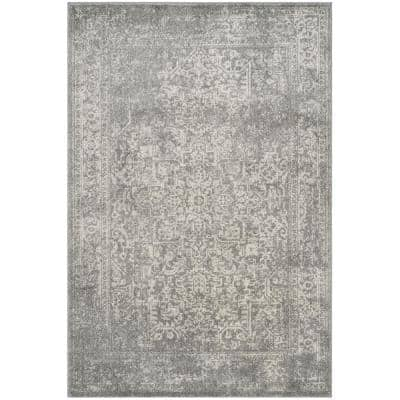 Evoke Silver/Ivory 4 ft. x 6 ft. Area Rug