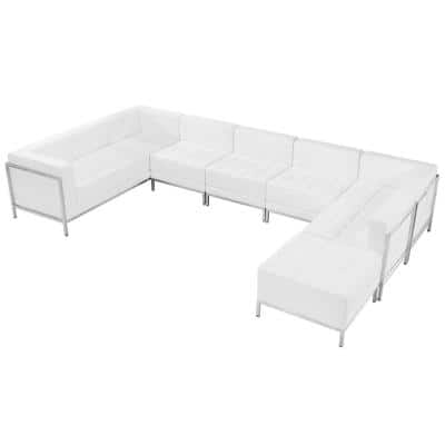 7-Piece Melrose White Living Room Sets