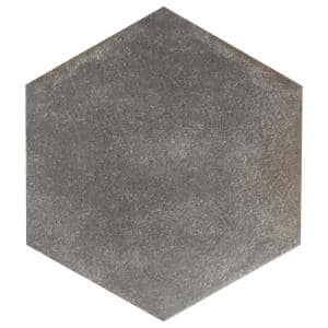 D'Anticatto Hex Notte 11 in. x 12-5/8 in. Porcelain Floor and Wall Tile (11.22 sq. ft. / case)