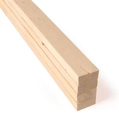 1 in. x 2 in. x 2 ft. SPF Premium Sanded Boards (4-Pack)