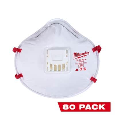 N95 Professional Multi-Purpose Valved Respirator (80-Pack)