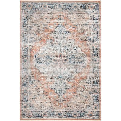 Piper Shaded Snowflakes Beige 8 ft. x 10 ft. Area Rug