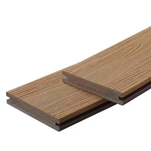 Apex 1 in. x 6 in. x 8 ft. Himalayan Cedar Brown PVC Grooved Deck Boards (2-Pack)