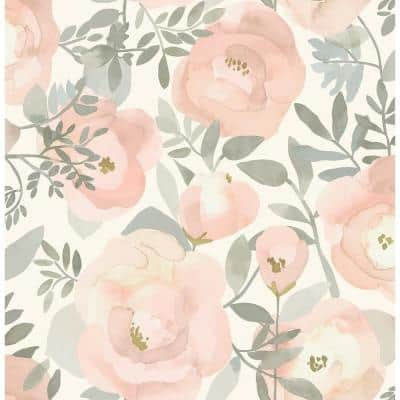 Rose Peachy Keen Peel And Stick Wallpaper