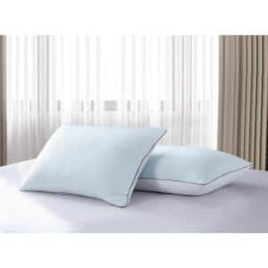 233-Thread Count White Goose Feather Summer and Winter Medium Firm King Pillow (2-Pack)