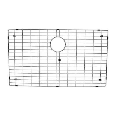 17.8 in. x 30.5 in. Kitchen Sink Bottom Grid in Stainless Steel