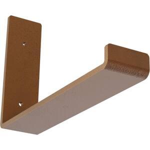 2 in. x 6 1/2 in. x 10 in. Hammered Copper Steel Hanging Shelf Bracket
