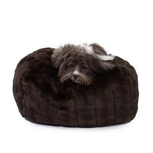 Medium Brown Mink Faux Fur Puff Ball