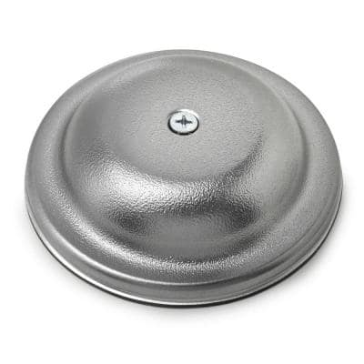 5 in. Plastic Bell Cleanout Cover Plate in Chrome