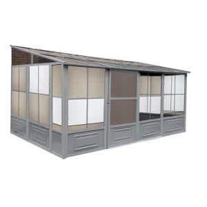 Florence Add-A-Room Solarium 10 ft. x 16 ft. in Slate