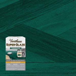 1 Qt. Gloss Turquoise Super Glaze Finish and Preservative