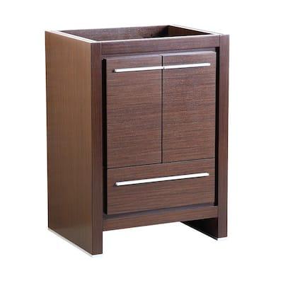 Allier 24 in. Modern Bathroom Vanity Cabinet in Wenge Brown