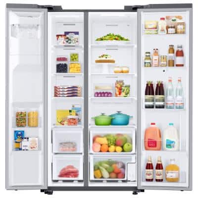 26.7 cu. ft. Family Hub Side by Side Smart Refrigerator in Fingerprint Resistant Stainless Steel