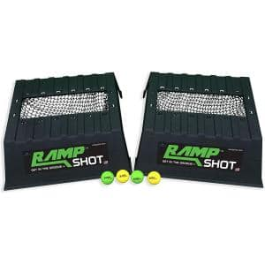 Cornhole Family Game Set with 2 Ramps, 4 Balls, 2 Nets and Instructions