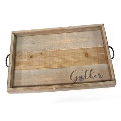 """Gather"" Wood Tray"