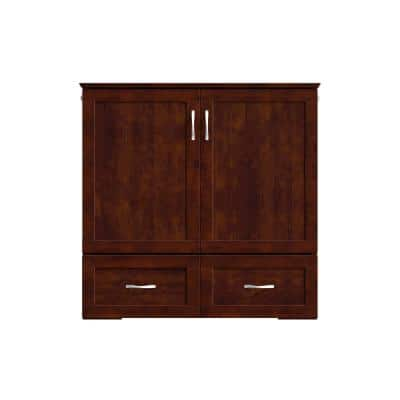 Hamilton Walnut Twin XL Murphy Bed Chest with Charging Station